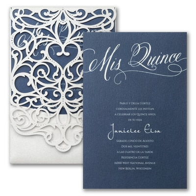 Quince Flourish Invitation