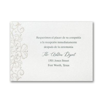 Flourish Framework Reception Card