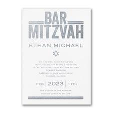 Textured Mitzvah - Bar Mitzvah - Invitation