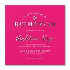 Fresh Edict - Bat Mitzvah - Invitation