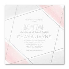 Aquarelle Honor - Bat Mitzvah - Invitation