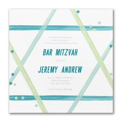 Magen David - Bar Mitzvah - Invitation