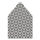 Bold Kabbala Envelope Liner with Checkerboard Design