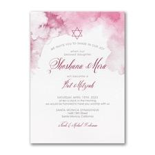 Marbled Mitzvah - Bat Mitzvah - Invitation