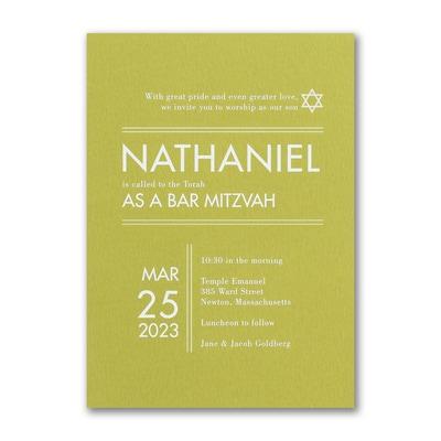 Modish Mitzvah Invitation