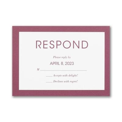 Vivid Border Response Card and Envelope