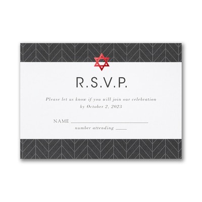 Arrowed Tradition Response Card and Envelope