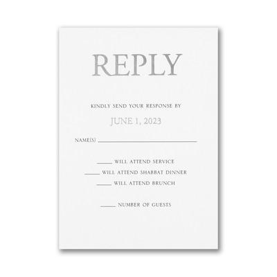 Bold Kabbala Response Card and Envelope