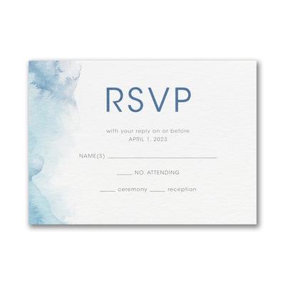 Marbled Mitzvah - Bar Mitzvah - Response Card and Envelope