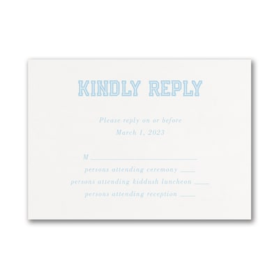 Initial Banner Response Card and Envelope
