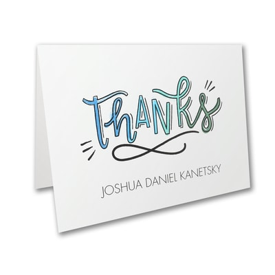 Watercolor Expressions - Bar Mitzvah - Note Folder and Envelope