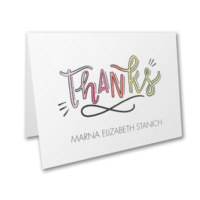 Watercolor Expressions - Bat Mitzvah - Note Folder and Envelope