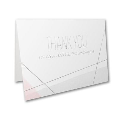 Aquarelle Honor - Bat Mitzvah - Note Folder and Envelope