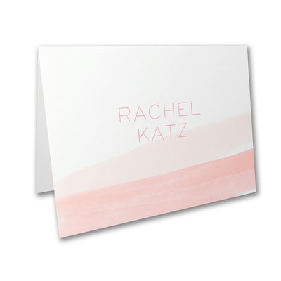 Stellar Brushstroke - Bat Mitzvah - Note Folder and Envelope