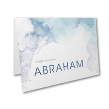 Marbled Mitzvah - Bar Mitzvah - Note Folder and Envelope