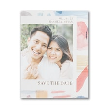 Colorful Brush Strokes - Save the Date - Small