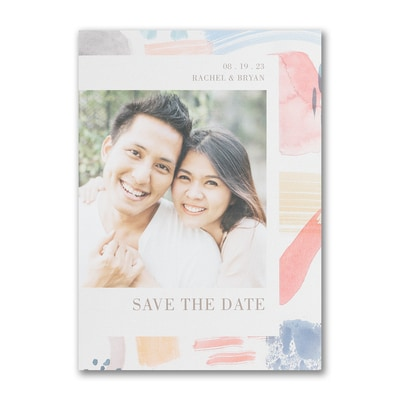 Colorful Brush Strokes - Save the Date
