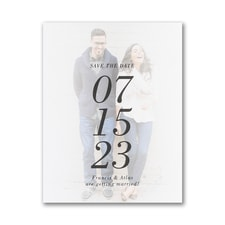 The Big Date - Save the Date Postcard