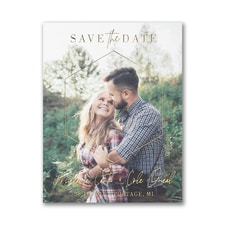 Dimensional Love - Save the Date Postcard