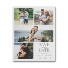Endearing Collage - Save the Date Postcard