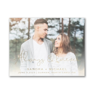 Forever Yours - Save the Date Postcard