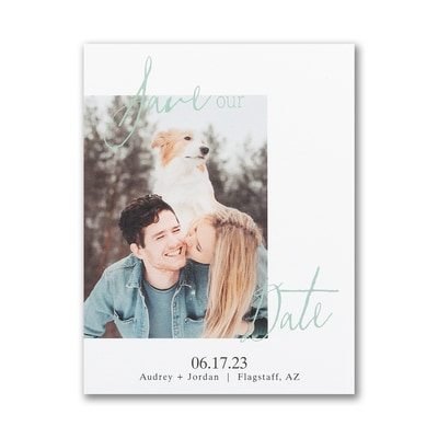 Endearing Date - Save the Date Postcard