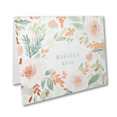 Muted Floral Note Folder