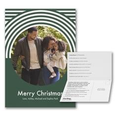Merry Christmas Full Circle Photo Card