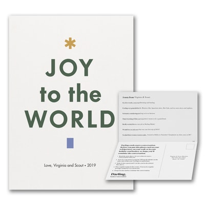 Joy To The World Tree Card