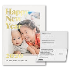Happy New Year Foil Photo Card