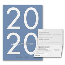 2020 Happy New Year Portrait Card