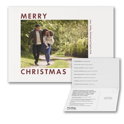 Bold Merry Christmas Photo Card