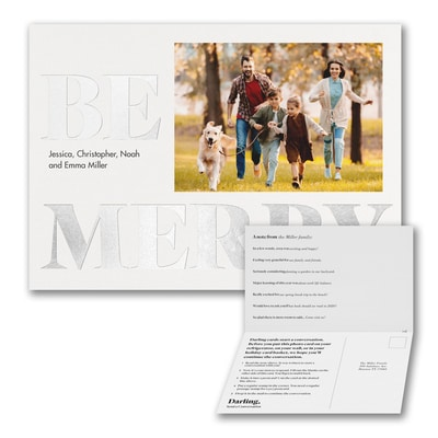 Be Merry Foil Photo Card