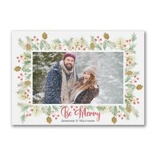 Be Merry Photo - Postcard