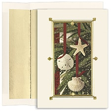 Shell Ornaments Boxed Holiday Card