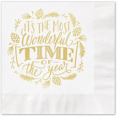 Most Wonderful Time Napkin
