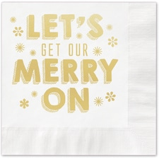 Get Our Merry On Napkin