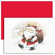 Happy Santa Boxed Holiday Card