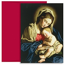 Madonna & Child At Rest Boxed Holiday Card