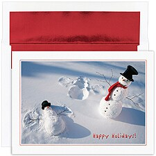 Snowman Angels Boxed Holiday Card