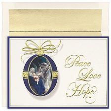 Angels Adoring Boxed Holiday Card