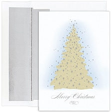 Frosted Tree Boxed Holiday Card