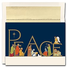 Peaceful Night Boxed Holiday Card