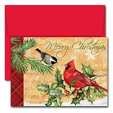 Holiday Birds Boxed Holiday Card