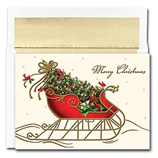 Holiday Sleigh Boxed Holiday Card