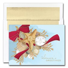 Shell Swag Boxed Holiday Card