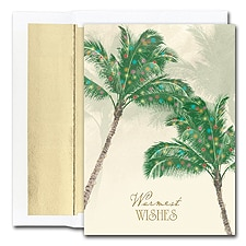 Palm Trees Boxed Holiday Card