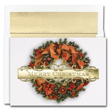 Christmas Wreath Holiday Collection Boxed Holiday Card