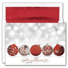 Sparkling Ornaments Holiday Collection Boxed Holiday Card