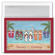 Holiday Flip Flops Warmest Wishes Boxed Holiday Card